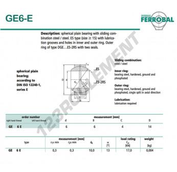 DGE6-E-DURBAL - 6x14x4 mm