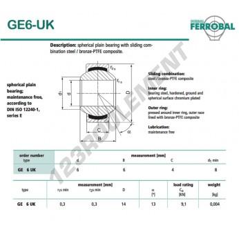 GE6-UK-DURBAL - 6x14x6 mm