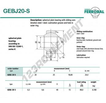 DGEBJ20-S-DURBAL - 20x40x18 mm