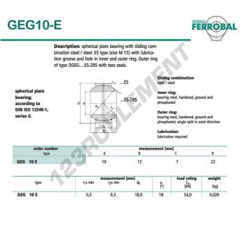 DGEG10-E-DURBAL - 10x22x7 mm