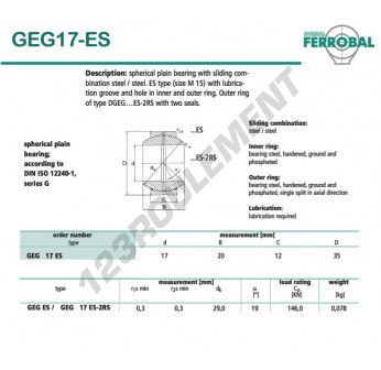 GEG17-ES-DURBAL - 17x35x12 mm