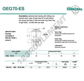GEG70-ES-DURBAL - 70x120x45 mm