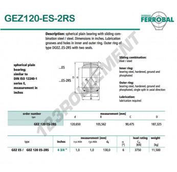 GEZ120-ES-2RS-DURBAL - 120.65x187.33x90.48 mm