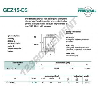 GEZ15-ES-DURBAL - 15.8x26.9x13.9 mm