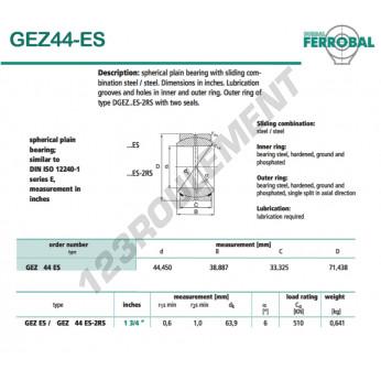 GEZ44-ES-DURBAL - 44.45x71.44x33.33 mm