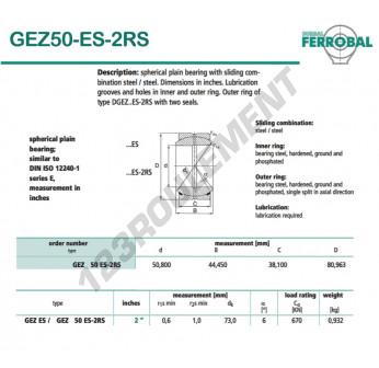 DGEZ50-ES-2RS-DURBAL - 50.8x80.96x38.1 mm