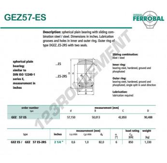 DGEZ57-ES-DURBAL - 57.15x90.49x42.85 mm