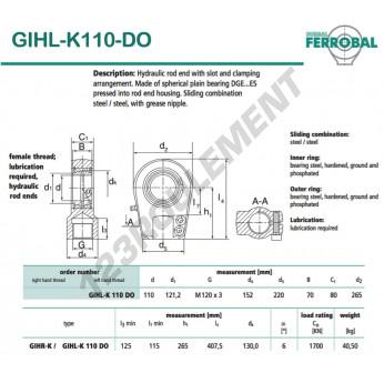 GIHL-K110-DO-DURBAL - 110x265x80 mm