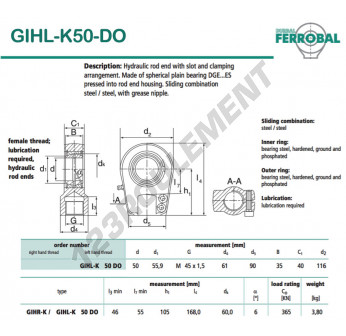 GIHL-K50-DO-DURBAL - 50x116x40 mm