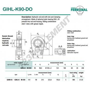 GIHL-K90-DO-DURBAL - 90x206x65 mm