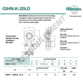 DGIHN-K-20LO-DURBAL - 20x47x17 mm