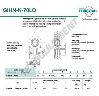 GIHN-K-70LO-DURBAL - 70x155x57 mm