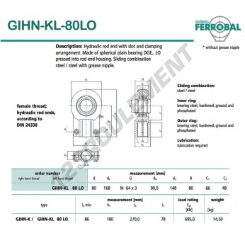 GIHN-KL-80LO-DURBAL - 80x168x66 mm