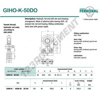 DGIHO-K-50DO-DURBAL - 50x120x30 mm