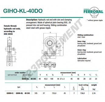 GIHO-KL-40DO-DURBAL - 40x100x23 mm