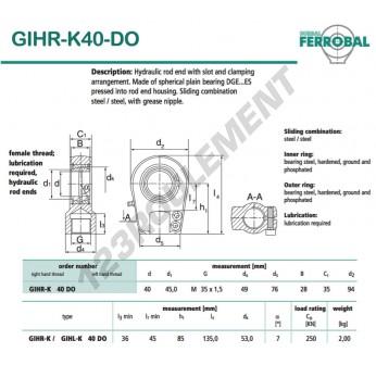 DGIHR-K40-DO-DURBAL - 40x94x35 mm