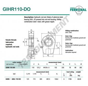 DGIHR110-DO-DURBAL - 110x265x80 mm