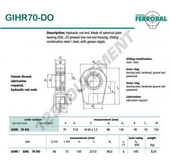 GIHR70-DO-DURBAL - 70x154x55 mm