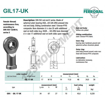 GIL17-UK-DURBAL - 17x46x14 mm