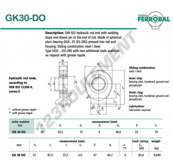 DGK30-DO-DURBAL - 30x73x22 mm