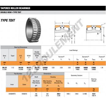 H242649TD-H242610-TIMKEN - 206.38x336.55x180.98 mm