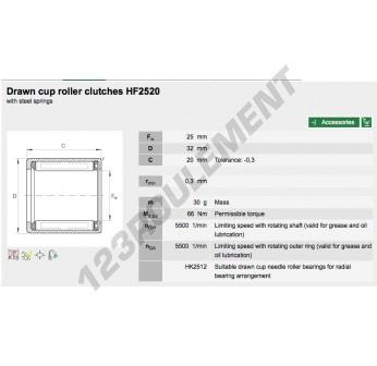 HF2520-INA - 25x32x20 mm