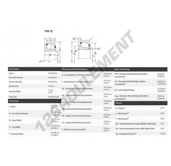 HM903241-HM903210-TIMKEN - 38.1x95.25x28.58 mm
