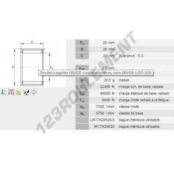 HN2020-INA - 20x26x20 mm