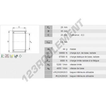 HN2820-INA - 28x35x20 mm