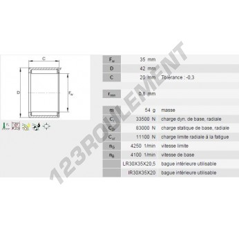 HN3520-INA - 35x42x20 mm