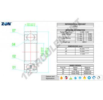 HYB-6207-ZEN - 35x72x17 mm