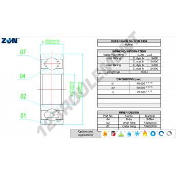 HYB-6308-ZEN - 40x90x23 mm