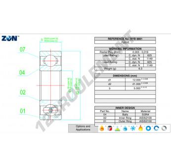 HYB-6801-ZEN - 12x21x5 mm