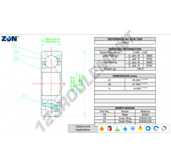 HYB-7204-ZEN - 20x47x14 mm