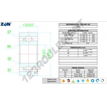 HYB-MR105-ZEN - 5x10x3 mm