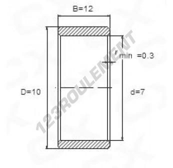 IR7-10-12-JAP - 7x10x12 mm