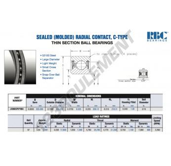 JC080-CP0-RBC - 203.2x222.25x9.53 mm