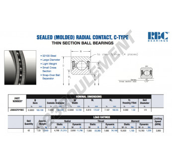 JD065-CP0-RBC - 165.1x190.5x12.7 mm