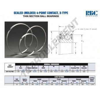 JHA17-XL0-RBC - 44.45x53.98x6.35 mm