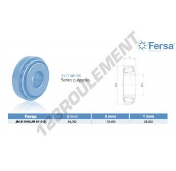 JM511945-JM511910-ASFERSA - 65x110x28 mm