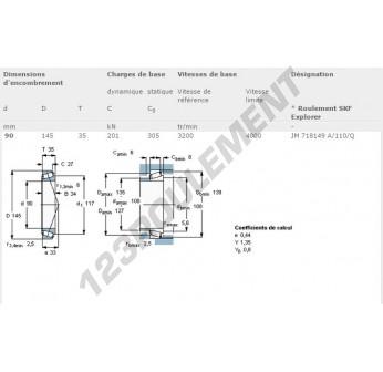 JM718149A-JM718110-Q-SKF - 90x145x35 mm