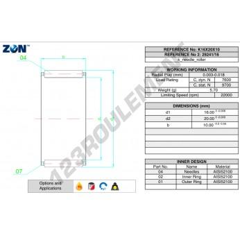 K16-20-10-ZEN - 16x20x10 mm