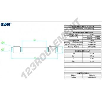 K81120-TN-ZEN - 100x135x11 mm