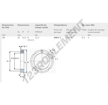 KMFE5-SKF - 25x38x10.5 mm