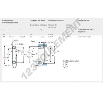 L45449-L45410-Q-SKF - 29x50.29x14.22 mm