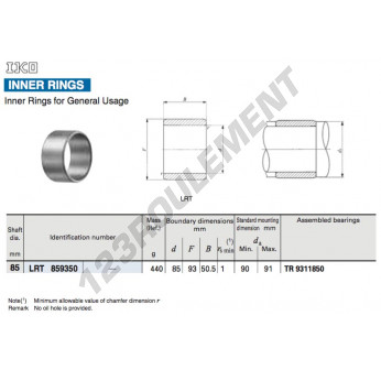 LRT859350-IKO - 85x93x50.5 mm
