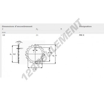 MB0-SKF - 10x21x1 mm