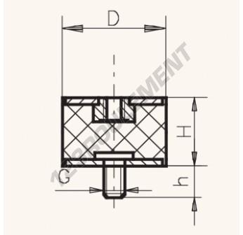 MF6045-12 - M12x60x45 mm