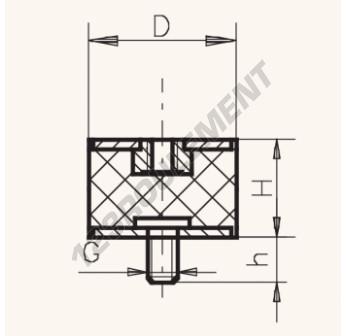 MF7545-12 - M12x75x45 mm