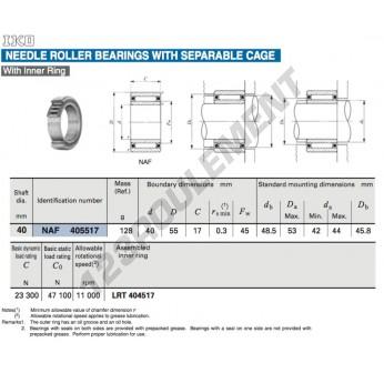 NAF405517-IKO - 40x55x17 mm